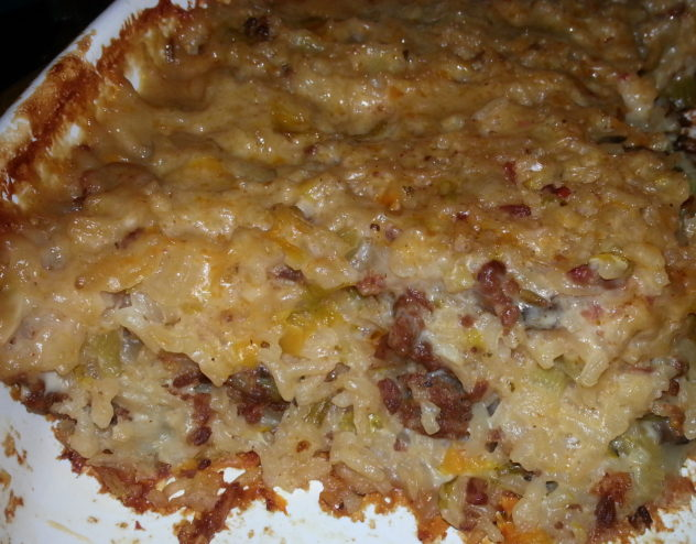 Creamy and Delicious Italian Sausage and Rice Casserole