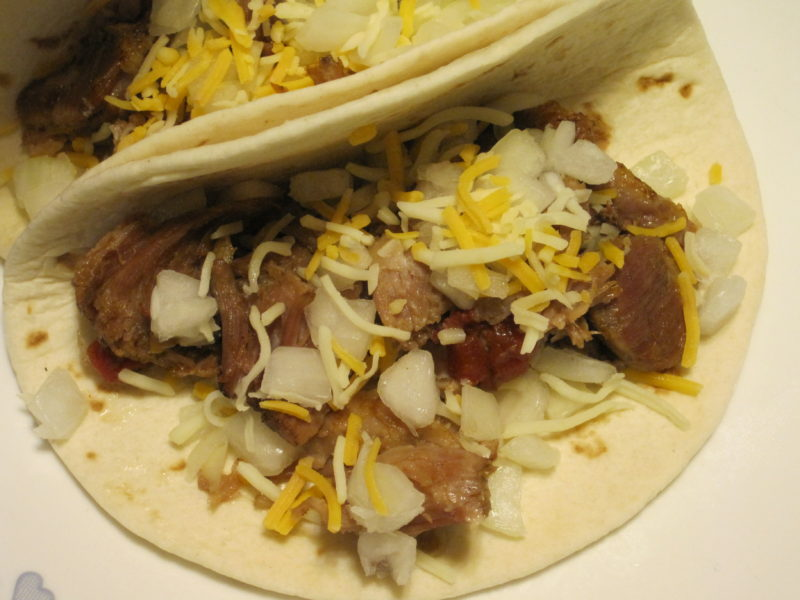 Cooked all day in the slow cooker, this is delicious slow cooker pork for tacos