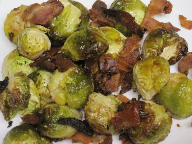 Roasted Brussel Sprouts with Bacon
