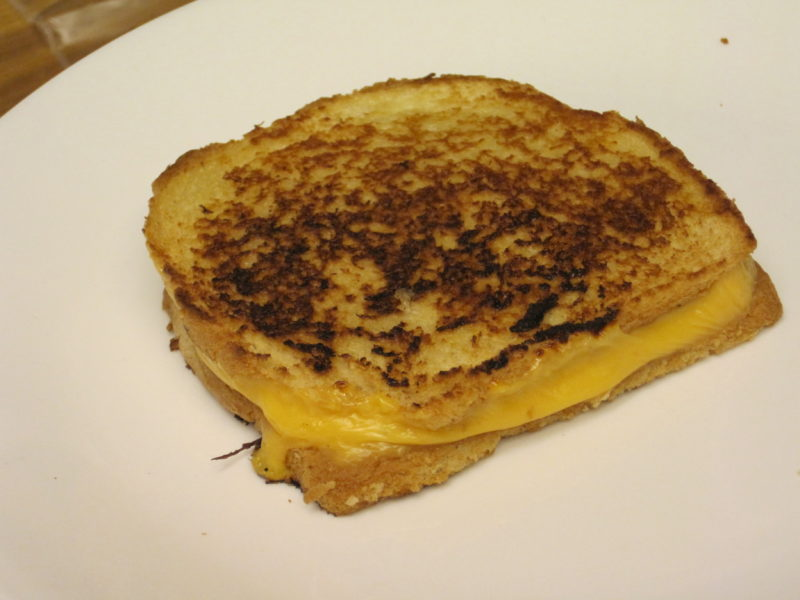 Grilled Cheese Sandwiches can be made on the heels of bread. No one will notice.