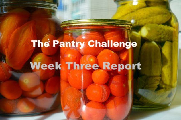 The Pantry Challenge-week three report