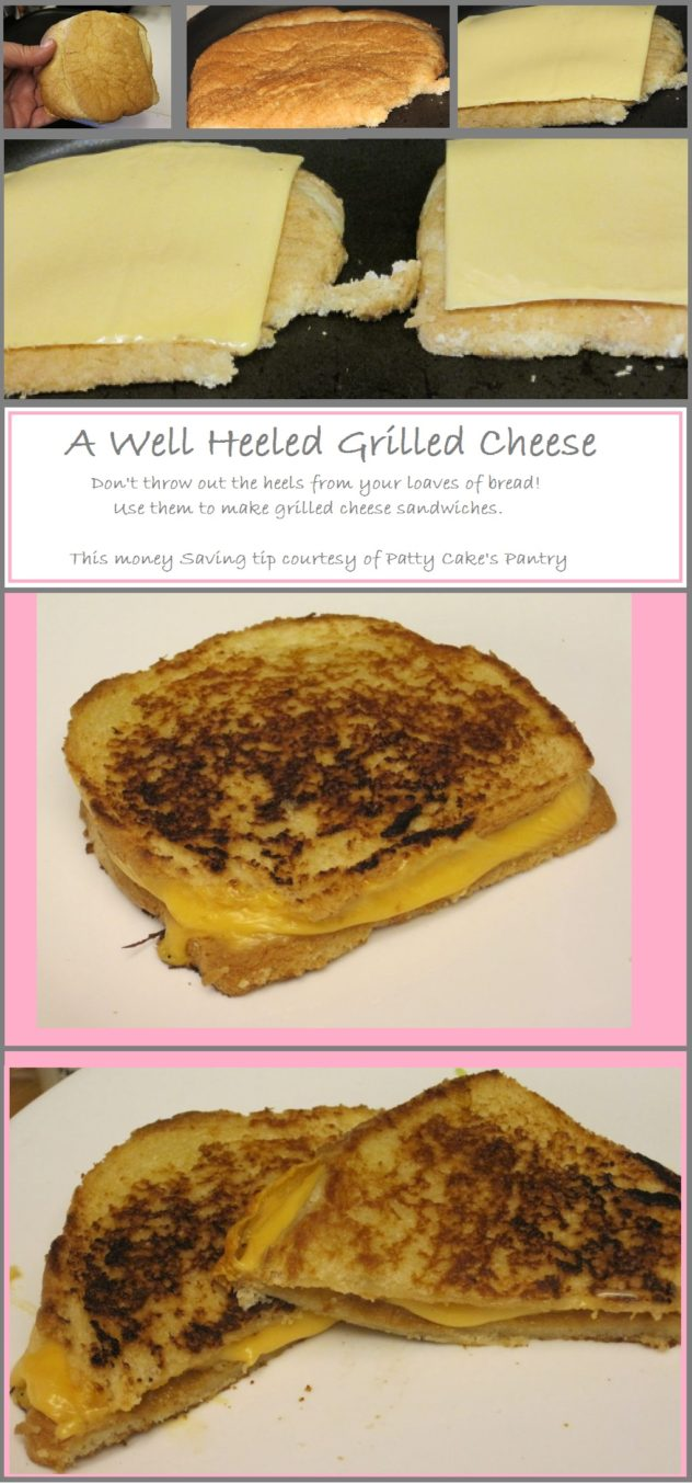 Using heels from a loaf of bread to make grilled cheese sandwiches is a way to stretch your grocery dollar