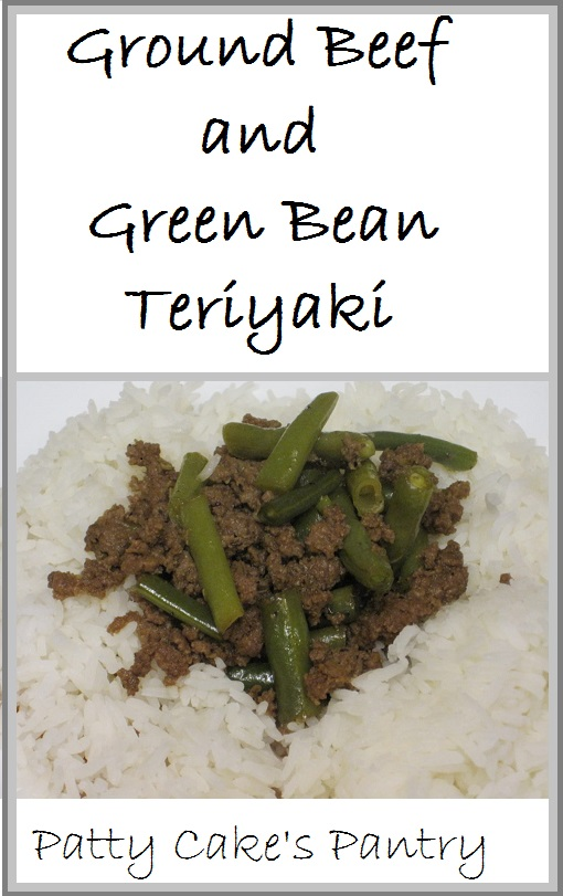 Ground beef and green beans flavored with garlic, ginger, and teriyaki sauce.