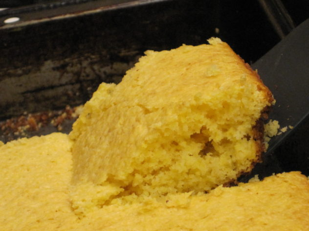 Corn Bread--canned milk and a chia seed egg make this a shelf stable recipe