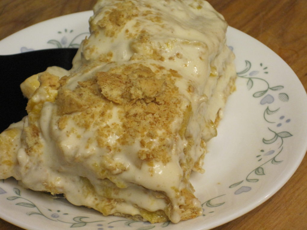 Mango Graham Freezer Cake