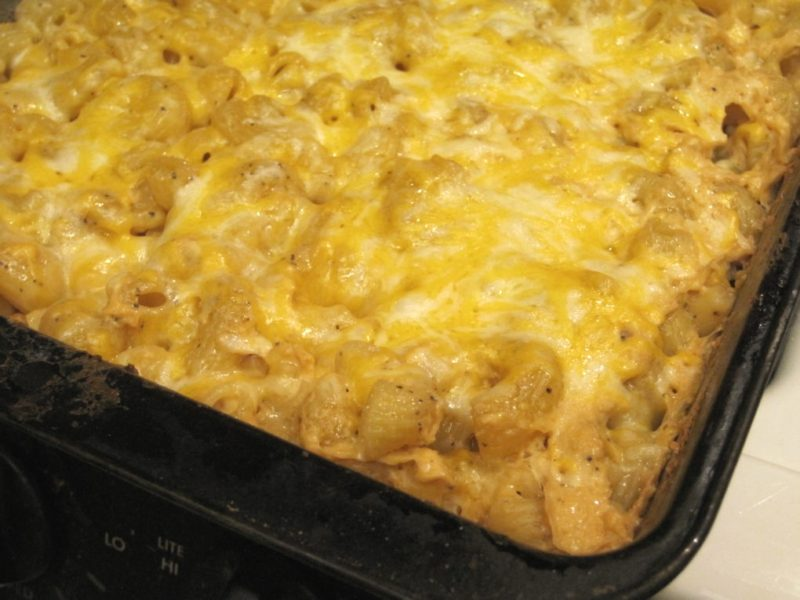 Baked No Boil Mac and Cheese