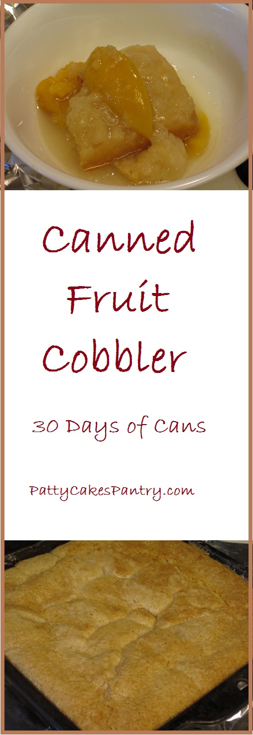 Canned Fruit Cobbler--For about $3.00, you can make a simple and delicious fruit cobbler using canned fruit and pantry staples.