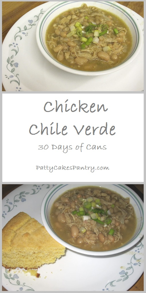 Chicken Chile Verde--A simple combination of mostly canned items that creates a delicious white chicken chili