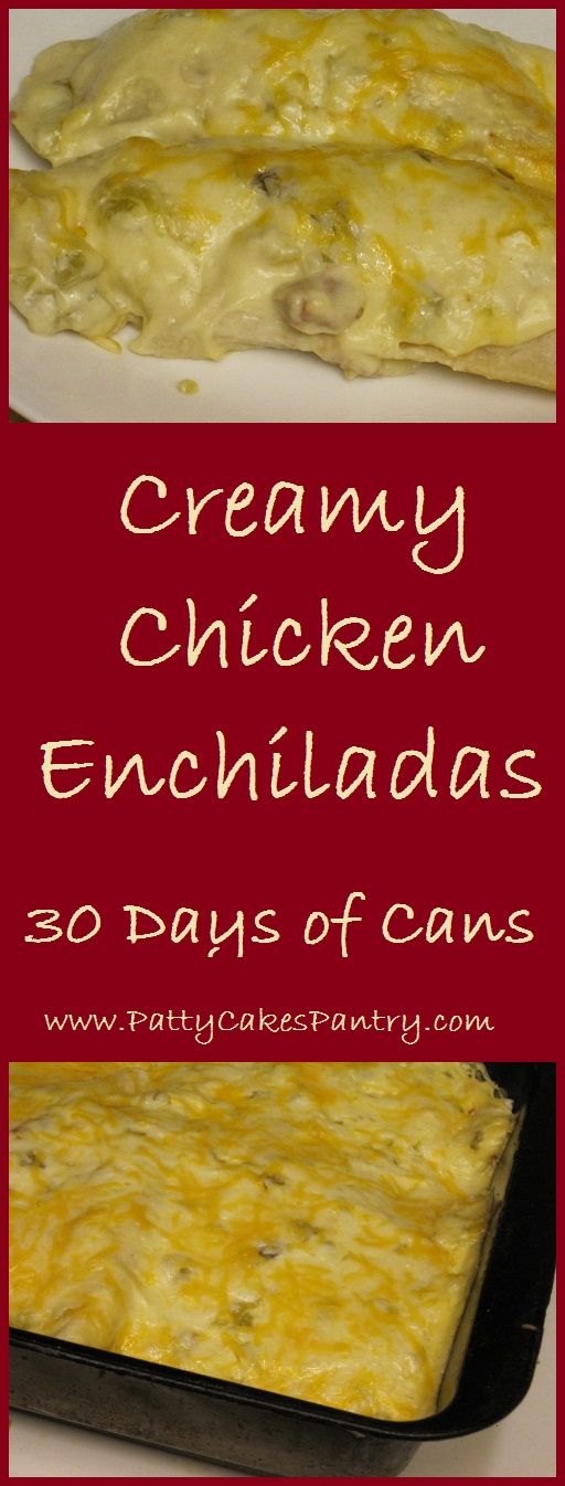 Creamy Chicken Enchiladas made from canned chicken are simple and delicious