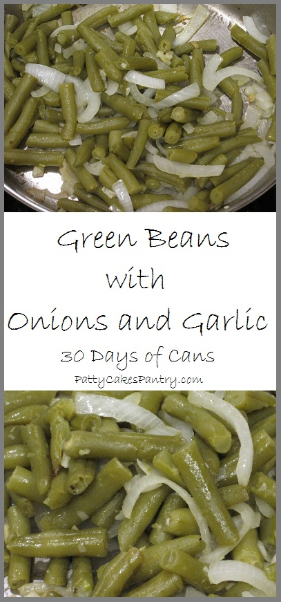 Green Beans with Onion and Garlic--Canned beasn are transformed into something delicious in this simple recipe.