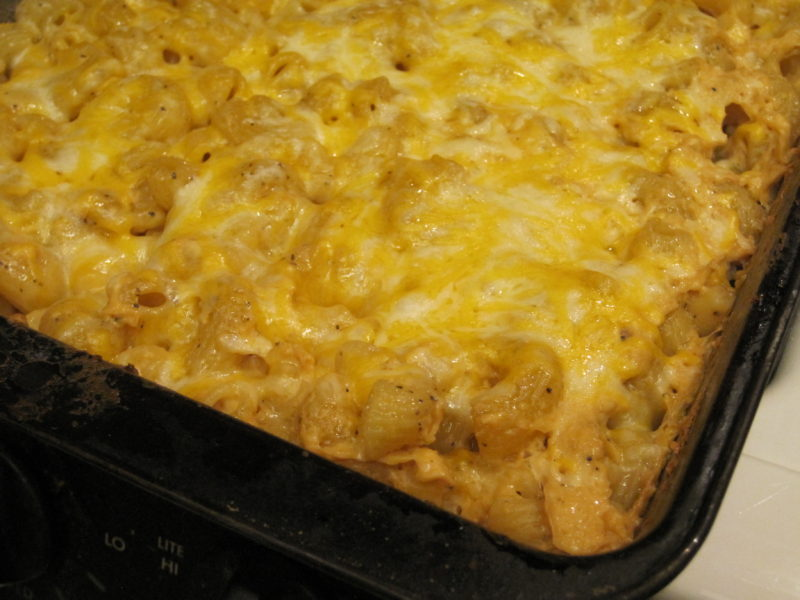 Baked No boil Macaroni and Cheese