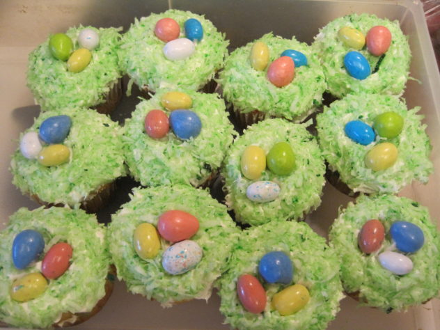 Easter Nest Cupcakes