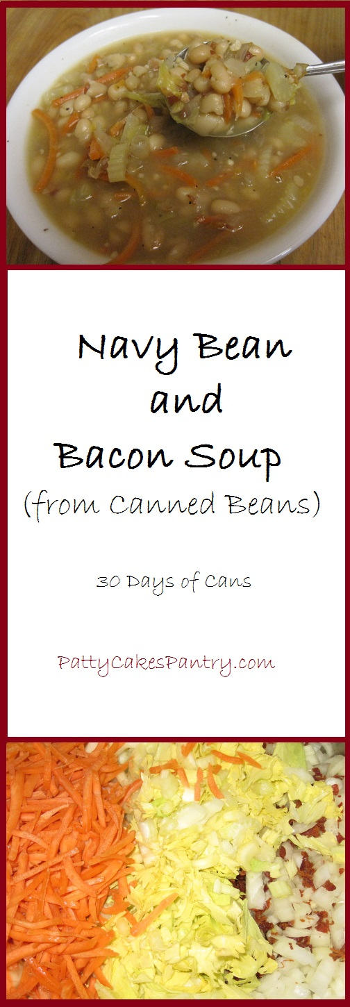 Navy Bean and Bacon Soup--a simple and delicious meal that's made from canned beans