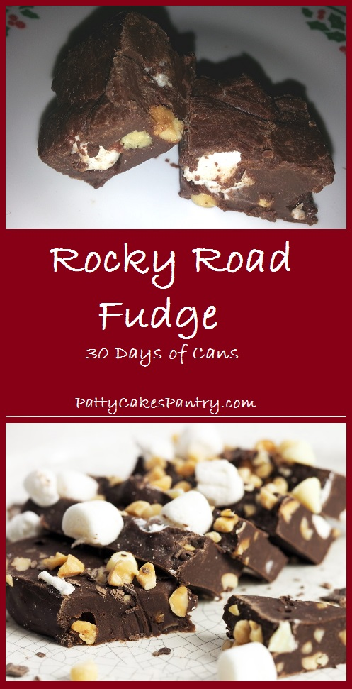 Rocky Road Fudge--A variation of Patty Cake's Famous 5 minute fudge recipe