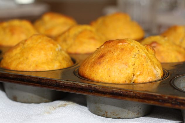 Corn Bread--made with a chia egg and canned milk.