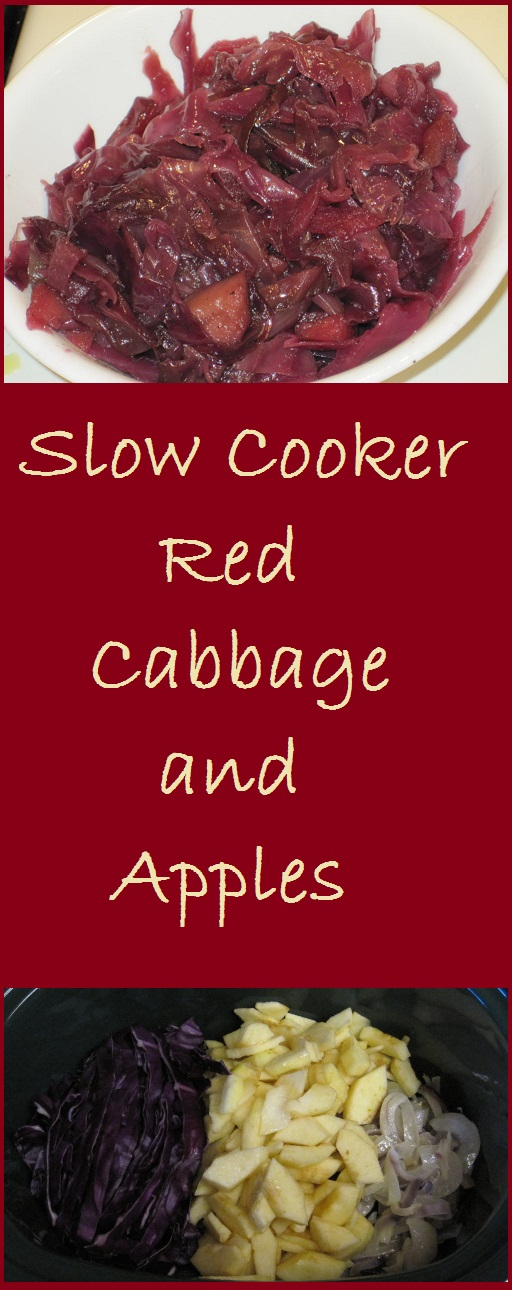 Slow Cooker Red Cabbage and Apples--Traditional German dish made in the slow cooker. Total Cost of Recipe = $3.66