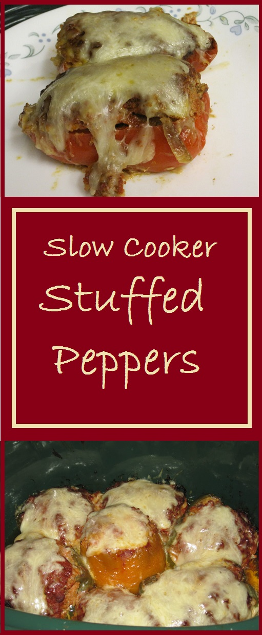 Slow Cooker Stuffed Peppers--Total Cost of Recipe = $3.02