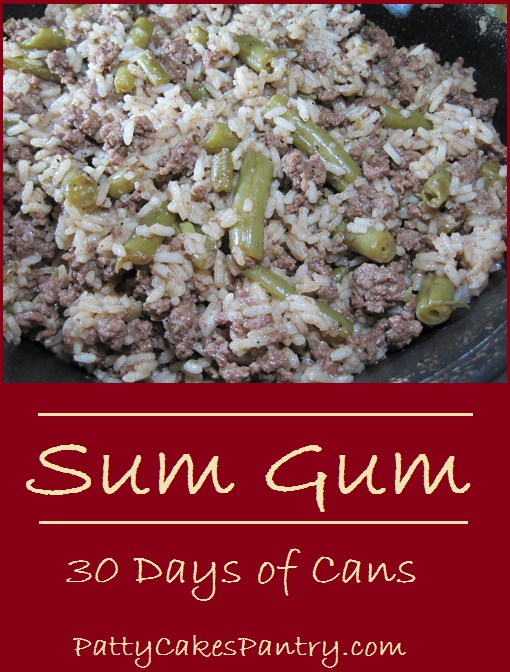 Sum Gum--ground beef, green beans, and rice are the base of this simple and delicious meal.
