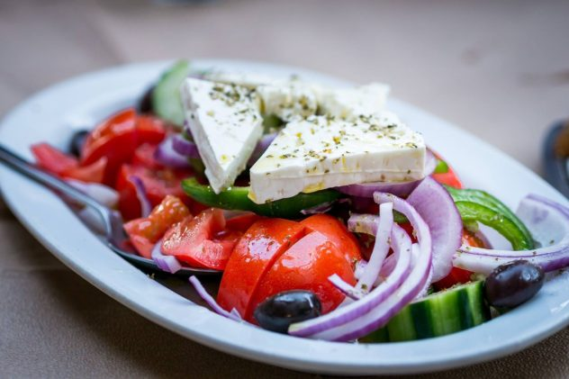Cucumber Tomato and Feta Salad