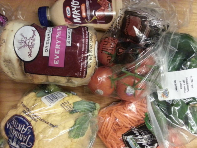 $25 grocery budget--5th week grocery haul and menu plan