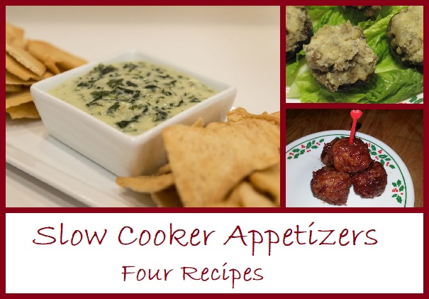Four simple and delicious appetizer recipes to make in your slow cooker.