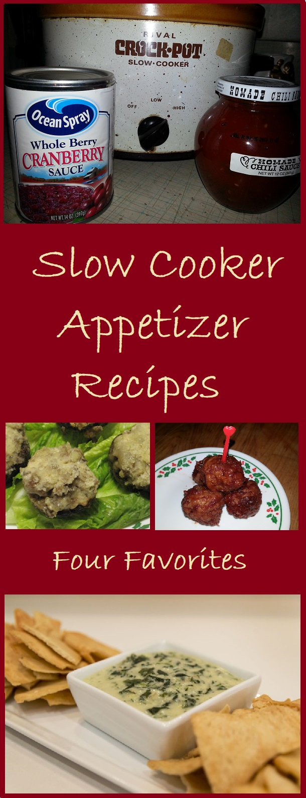 4 simple and delicious appetizer recipes to make in your slow cooker.
