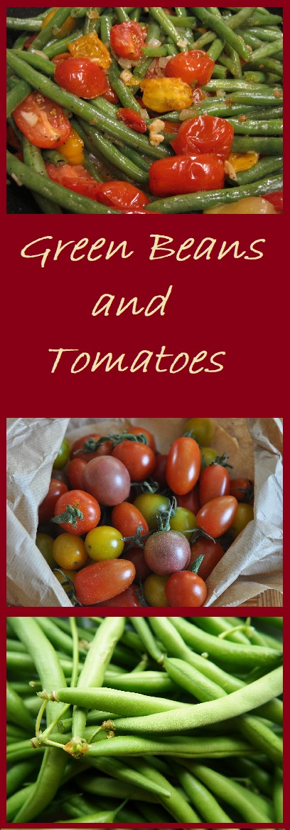 Green Beans and Tomatoes are a flavorful and colorful side dish.