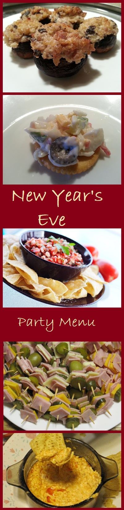 Our Menu plan for a New Year's Eve Party with links to all of the recipes.
