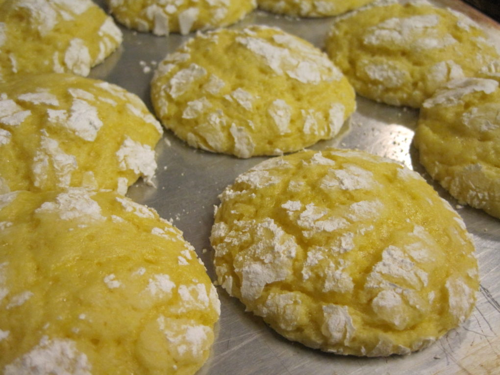 Lemon Crinkle Cake Mix Cookies