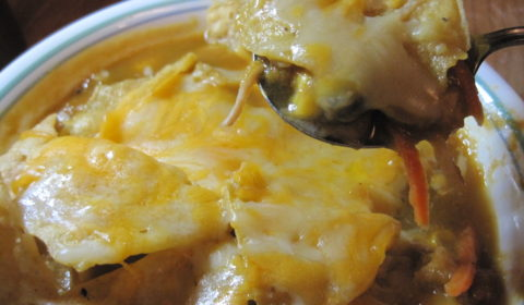 Chicken Enchilada Soup with Black Beans and Corn