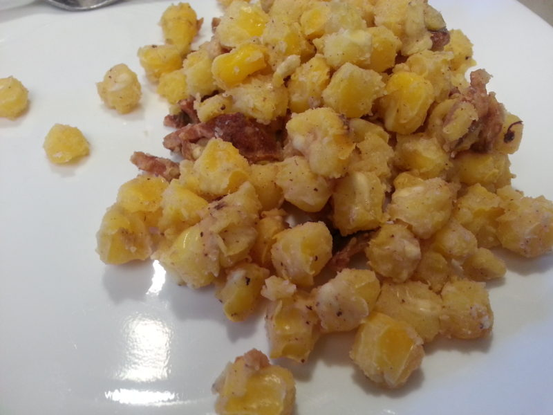 Hominy and Bacon