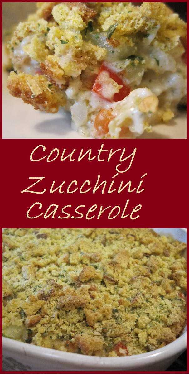 Country Zucchini Casserole is a delightful way to prepare zucchini. This recipe is rich and creamy and sure to become a family favorite.