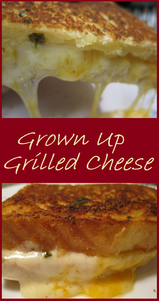 Grown Up Grilled Cheese--Three types of cheese, and a compound butter on the bread makes takes grilled cheese to a whole new level.