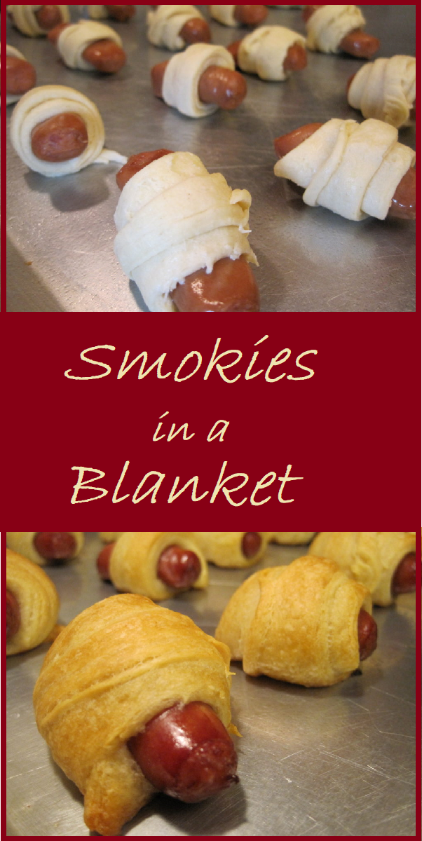 Smokies in a Blanket--These are a great snack for the kids, or to serve to a group of friends. You can make 24 of these for only $4.86.