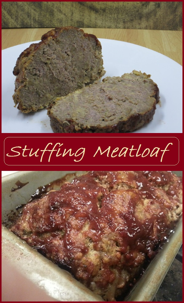 Stuffing Meatloaf--Simple and delicious meatloaf made from only six ingredients. Leftovers make great meatloaf sandwhiches.