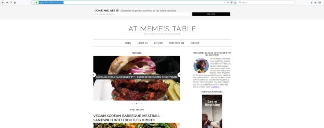 At Meme's Table