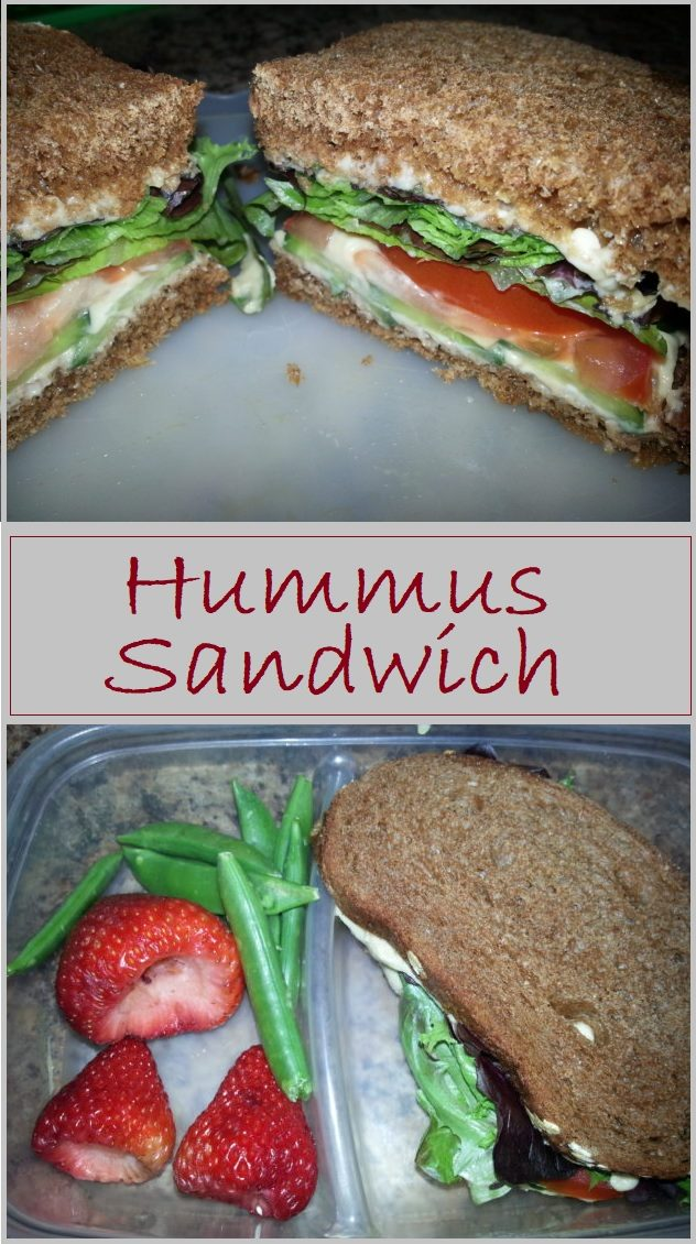 Did you know that hummus makes a great spread for sandwiches. Loaded with veggies it's the perfect vegan lunch.