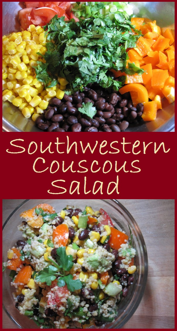 Southwestern Couscous Salad is a light and refreshing combination of flavors that makes a great light lunch or the perfect accompaniment to a meal.