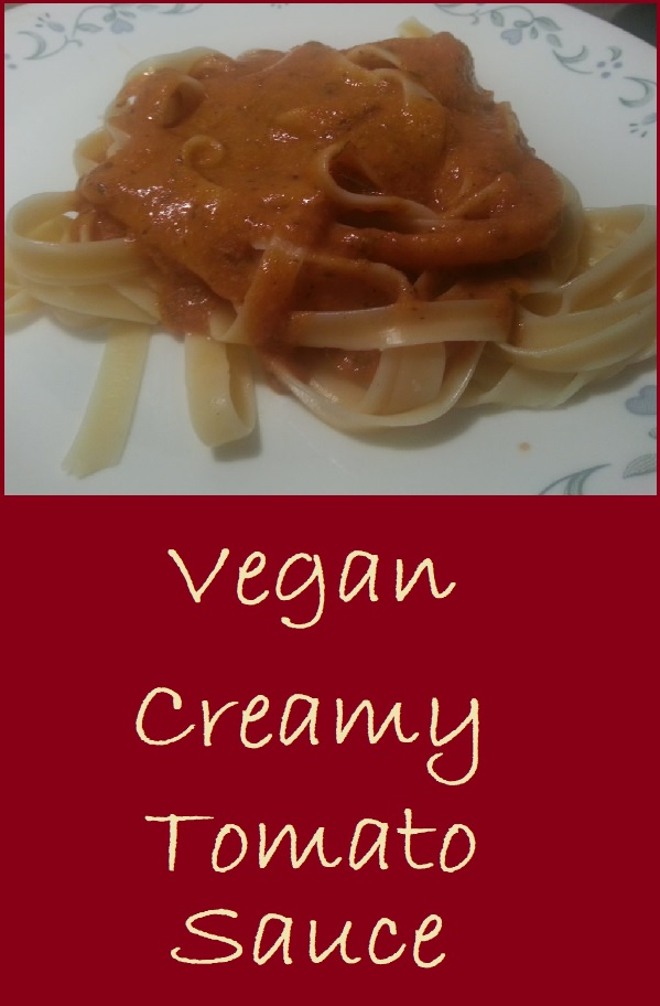 Vegan Creamy Tomato Sauce is made from a base of fresh cherry tomatoes, This sauce is complex in flavor, but fairl simple to prepare.