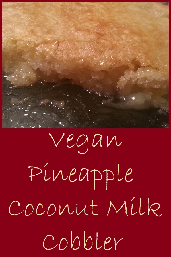 Vegan Pineapple Coconut Milk Cobbler