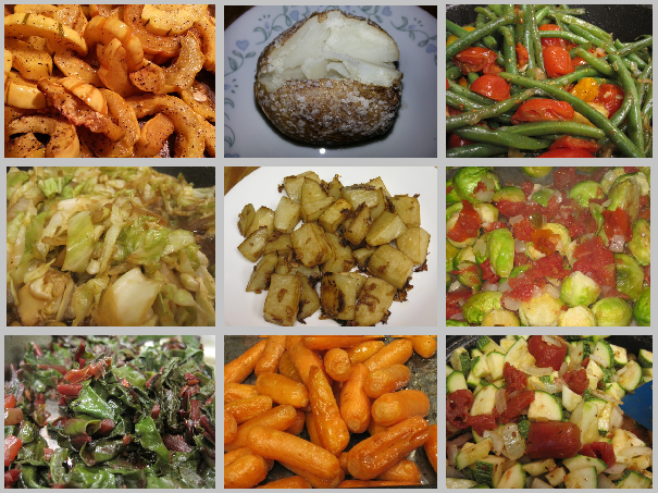 A collection of vegan side dishes