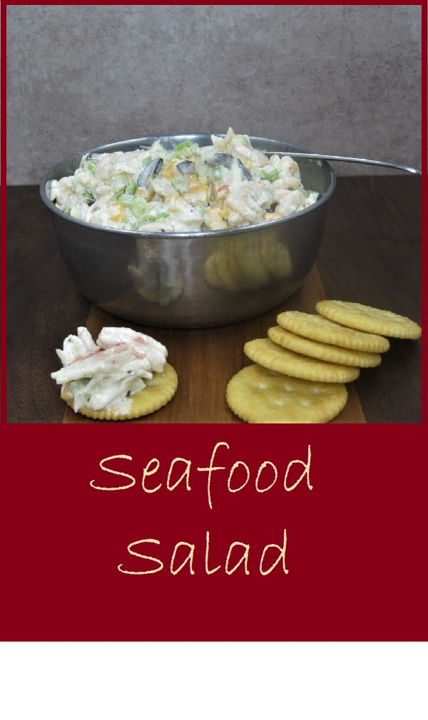 Seafood Salad--This simple recipe is delicious and costs only $6.92 for the entire recipe which serves 6. That's only about $1.16 per serving.