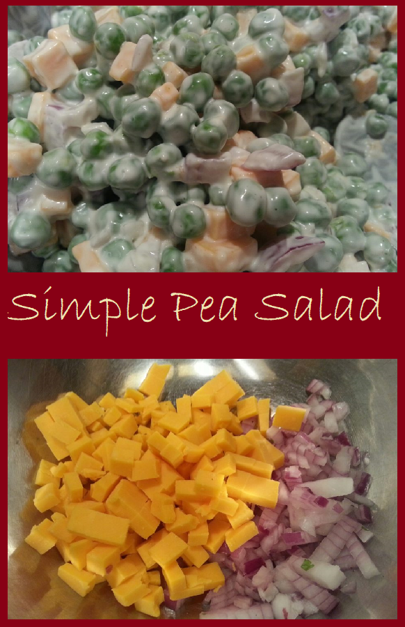 Simple Pea Salad--Five Ingredient Goodness