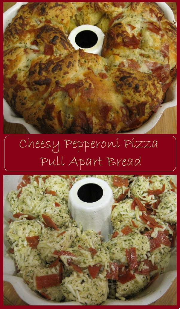 Cheesy Pepperoni Pizza Pull Apart Bread