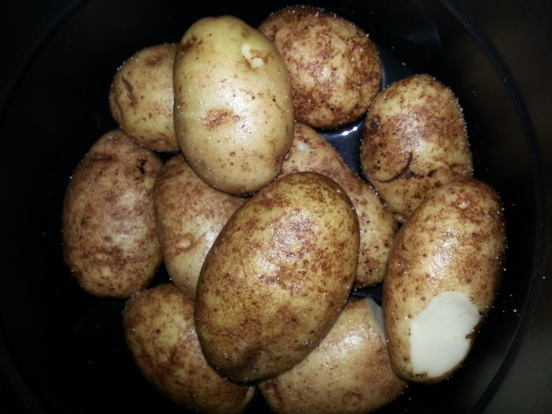 Baked Potatoes from the Pressure Cooker