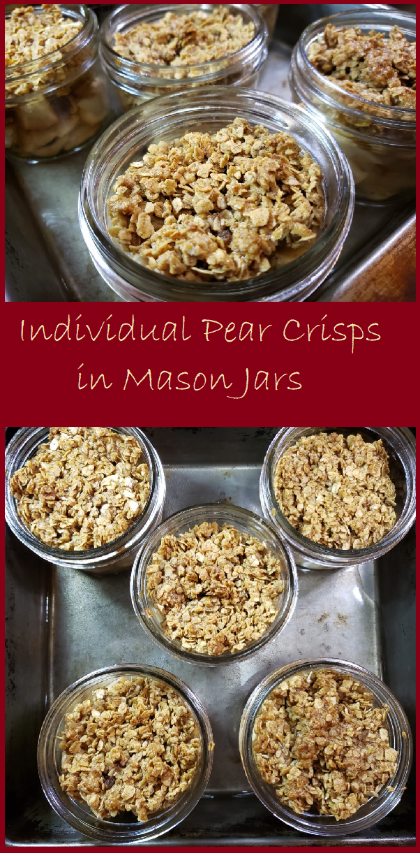 Individual Pear Crisps in a Jar Individual Pear Crisps in a Jar