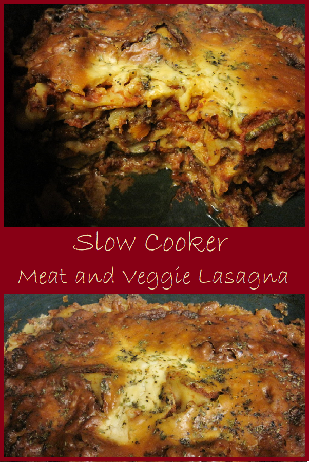 Slow Cooker Meat and Veggie Lasagna