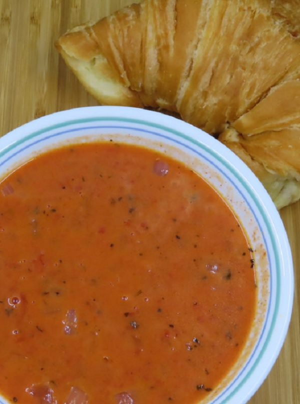 Creamy Tomato Soup, simple to prepare with a rich and creamy taste that's still figure friendly.