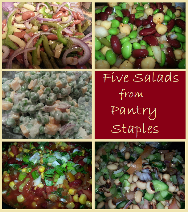 Five Salads from Pantry Staples