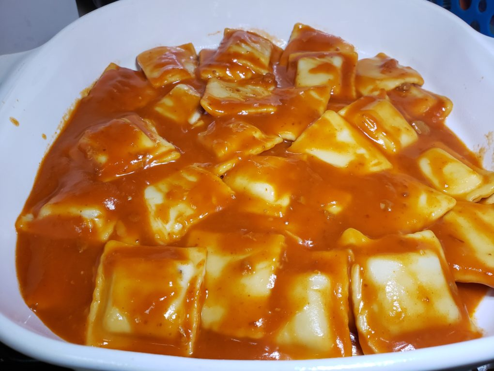 Ravioli Lasagna from Canned Beef Ravioil